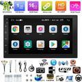 Double Din Car Stereo Touch Screen 7 Inch Car Audio Receiver,FM Radio Bluetooth Car Multimedia System Support Mirror Link/WiFi/Driving records/Touchscreen MP5 Player With Rear Camera