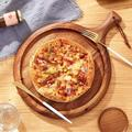 Glaustoncn Wood Pizza Board, Pizza Plate Pizza Cutting Board Pizza Paddle Rounded Edges Wooden Pizza Paddle Cheese Serving Tray For Bread Cake Bread