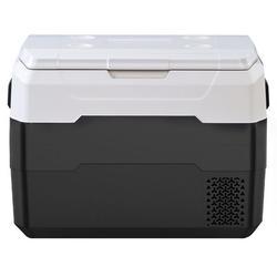 Sylanfia Car Fridge Portable Freezer Cooler w/ 12/24v Dc & 110-240v Ac, Travel Refrigerator For Vehicles, Car, Truck, Rv, Camping Bbq in Black