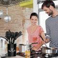 romeidata Silicone Kitchen Utensils Set, Silicone Cooking Utensil Set - 446°F Heat Resistant Kitchen Utensils, Non-Stick Cooking Utensils Set