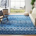 Dakota Fields Sumter Collection AMS108N Moroccan Boho Non-Shedding Stain Resistant Living Room Bedroom Area Rug, 8' X 10', Navy/Beige Polypropylene