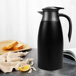 Prep & Savour Insulated Coffee Thermos Urn Stainless Steel Vacuum Thermal Pot Flask For Coffee, Hot Water, Tea, Hot Beverage Stainless Steel in Black