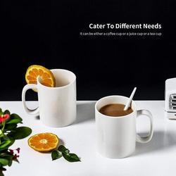 wisdomfurnitureco Ceramic Coffee Mug Set, Coffee Cup Set, Coffee Mug w/ Handle, 8 Oz White Coffee Cup For Coffee, Tea, Milk, Mulled Drinks | Wayfair