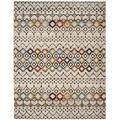 Dakota Fields Sumter Collection AMS108K Moroccan Boho Non-Shedding Stain Resistant Living Room Bedroom Area Rug, 8' X 10', Ivory/Multi Polypropylene