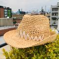 Anthropologie Accessories | Anthro Tracywatts Straw Fedora Short Brim Flex Hat | Color: Cream/Tan | Size: Small
