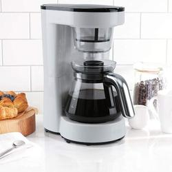 kureaily Coffee Maker w/ Reusable Filter,Small Drip Coffeemaker Compact Coffee Pot Brewer Machine (5 Cup) in White, Size 10.9 H x 10.1 W x 5.7 D in