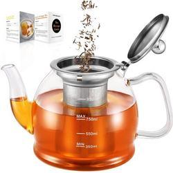 ZWISSLIV Glass Teapot, Glass Teapot w/ Removable Infuser, Clear Teapot For Blooming Tea, Loose Tea, Flowering Tea Pot Gift Set | Wayfair