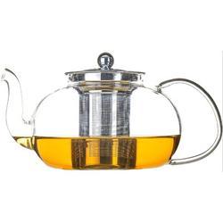 ZWISSLIV Glass Teapot w/ Removable Stainless Steel Infuser, Stovetop Safe Tea Kettle Microwave & Dishwasher Safe Tea Pot Loose Leaf Tea Maker