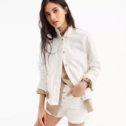 J. Crew Jackets & Coats | J Crew Denim Swing Jacket In White | Color: White | Size: Xs
