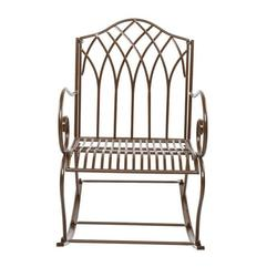 Rocking Chair Portable Patio Rocker Removable Sturdy Lounge Chair Comfortable Leisure Chair for Garden Backyard
