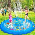 MingshanAncient Splash Pad For w/ Ring Toss Game 68 Inch 3-In-1 Toddler Inflatable Pool in Blue, Size 10.0 H x 68.0 W x 68.0 D in | Wayfair