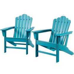 Rosecliff Heights Outdoor Adirondack Chair Plastic Folding Adirondack Chair Weather Resistant Accent Furniture Chair For Garden Porch Patio Deck Backyard Plastic/Resin