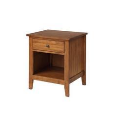 Red Barrel Studio® 1 Drawer Nightstand Solid Wood w/ Storage Shelf, Traditional Design Nightstand in Brown, Size 24.0 H x 20.9 W x 18.1 D in Wayfair