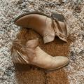 American Eagle Outfitters Shoes | American Eagle Tan Tassle Ankle Boots Size 8 12 | Color: Cream/Tan | Size: 8.5