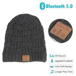 ankishi Upgraded Bluetooth 5.0 Beanie Wireless Headphone Beanie Music Hat Built-in HD Stereo Speaker for Winter Fitness Sports for Men's and Women's Gifts