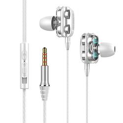 Elenxs Wire In-ear Headphone with Microphone Extra Bass Noise Isolation Headset for Mobile Phone