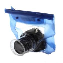 Top Deals 20M Waterproof DSLR SLR Digital Camera Bag Outdoor Underwater Housing Case Pouch Dry Bag For Canon for Nikon blue