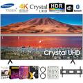 """Samsung UN55TU7000 55"""" 4K Ultra HD Smart LED TV (2020 Model) Bundle + 30-70 Inch TV Wall Mount + 6-Outlet Surge Adapter + 2x 6FT 4K HDMI 2.0 Cable"""