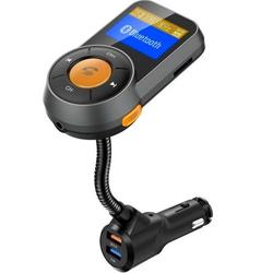 Bluetooth 4.2 HD Sound Car Charger FM Transmitter for Car, 1.44'' Car FM Transmitter QC 3.0 Fast Charge Car Kit Compatible Most Cars
