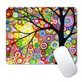 IMAYONDIA Mouse Pad, Colorful Tree of Life Mouse Pad, Custom Gaming Mouse Pads with Designs, Watercolor Dot Artistic Mousepad, Portable Office Non-Slip Rubber Base Wireless Mouse Pad for Laptop Mat