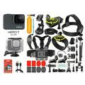 GoPro HERO7 Silver Waterproof Digital Action Camera with Touch Screen 4K HD Video 12MP Photos + 35-In-1 Action Camera Accessory Kit (Renew)
