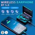 Wireless Bluetooth Earphone Bluetooth5.0 Single-ear Business Headphone 180° Rotatable Touch Control Button Control Long Standby In-Ear Earphone