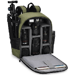 CADeN Camera Backpack Bag Professional for DSLR/SLR Mirrorless Camera Waterproof, Camera Case Compatible for Sony Canon Nikon Camera and Lens Tripod Accessories