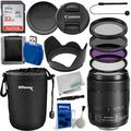 Canon EF-S 18-135mm f/3.5-5.6 IS USM Lens (White Box) with Essential Accessory Bundle - Includes: Water Resistant Lens Pouch, SanDisk Ultra 32GB Memory Card, Multicoated 3 Piece HD Filter Kit (UV, CPL