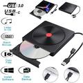 USB 3.0 & Type C External CD DVD Drive, Portable CD/DVD +/-RW Optical Drive Burner Writer for Laptop PC