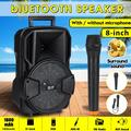 Multi-function 8'' bluetooth Outdoor Speaker with/without Wireless Wired Microphone for Meeting Lecture Dance Party Bar