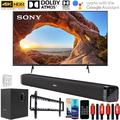 Sony KD55X85J 55 inch X85J 4K Ultra HD LED Smart TV 2021 Model Bundle with Deco Gear Home Theater Soundbar with Subwoofer, Wall Mount Accessory Kit, 6FT 4K HDMI 2.0 Cables and More