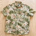 J. Crew Shirts   J Crew Hawaiian Classic Button Down Cotton Shirt   Color: Green   Size: Xl