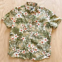 J. Crew Shirts | J Crew Hawaiian Classic Button Down Cotton Shirt | Color: Green | Size: Xl