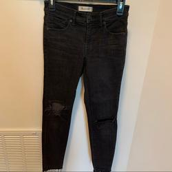 Madewell Jeans | Madewell Jeans 9 Inch High Rise Skinny Denim Jeans | Color: Black | Size: 26