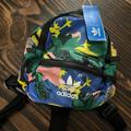 Adidas Bags | Adidas Floral Mini Backpack | Color: Blue/Green | Size: Os