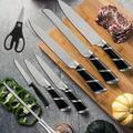 slai 20 Pieces Kitchen Knife Set w/ Block Wooden, Japan Stainless Steel Professional Ultra Sharp Boxed Chef Knife Set & Kitchen Tool Set in Black