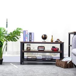 "17 Stories 39""L Industrial TV Table w/ Storage Shelf For Living Room   Wayfair C1FF28019A7949EEAFE468F100FE9129"