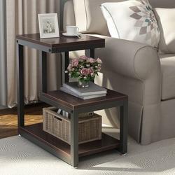 Wade Logan® Tuckerman Sled End Table w/ Storage Wood in Brown, Size 23.8 H x 13.8 W x 23.6 D in   Wayfair 1F985F1DA10F4ED5ACB4A3D41102DD70