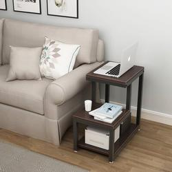 Wade Logan® Tuckerman Sled End Table w/ Storage Wood in Brown, Size 23.8 H x 13.8 W x 23.6 D in | Wayfair 1F985F1DA10F4ED5ACB4A3D41102DD70