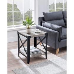 Williston Forge Catria End Table w/ Storage Wood in Brown, Size 22.0 H x 18.0 W x 18.0 D in | Wayfair B27FA6FBC6CF4C5D8D89BFA5D1771B25