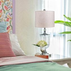 """Gracie Oaks 10"""" H X 13"""" W Assembly Required Fabric Drum Lampshade For Table Lamp, Bedside Lamp, Floor Lamp, Line ( Spider ) Linen in White 