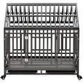 Tucker Murphy™ Pet Heavy Duty Dog Pet Crate Cage w/ Roof (Roof Can Not Open) in Black, Size 43.3 H x 44.5 W x 29.5 D in | Wayfair