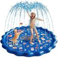 "wisdomfurnitureco Splash Pad Sprinkler For Kids, 68"" Inflatable Water Toys Baby Wading Pool w/ Sea Animals in Blue, Size 2.0 H x 68.0 W in | Wayfair"