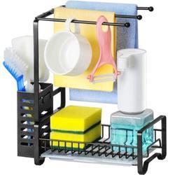 Alex Smart Home Metal Kitchen Sink Sponge Holder Organizer Dish Soap Holder w/ Drainboard, Bronze Metal, Size 11.2 H x 10.4 W x 5.5 D in   Wayfair