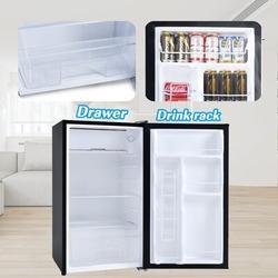 DEJELL Compact Refrigerator w/ Freezer, Energy Star 3.2 Cu.ft Mini Fridge w/ Reversible Door, 5 Settings Temperature Adjustable For Kitchen, Bedroom