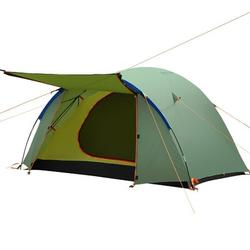 Homdox 4 Person Large Size Waterproof Anti-UV Camping Tent w/ Self Inflating Sleeping Pad in Green, Size 55.12 H x 78.74 W x 70.87 D in   Wayfair