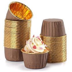 SpicyMedia Aluminum Foil Baking Cups, Disposable Foil Cupcake Cups, Foil Muffin Liners in Gray | Wayfair C2FJ6316B08MTN7V61-02