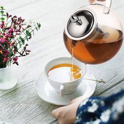 Red Barrel Studio® Large Glass Teapot Kettle w/ Infuser, Removable Tea Strainer, Microwavable & Stovetop Safe Tea Maker, Size 4.0 H in   Wayfair