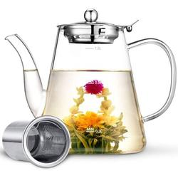 Red Barrel Studio® Tea Pot, Teapots, 40Oz/1200Ml Tea Pots w/ Scale Line, Tea Pot w/ Infuser, Borosilicate Glass Teapot For Stovetop Safe   Wayfair