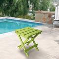 Highland Dunes Resin Teak Folding Outdoor Side Table   Fully Assembled   Weather Resistant, Patio Side Table For Small Spaces Outside () Plastic